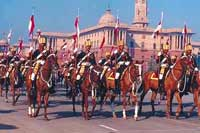 Republic Day, January 26, is celebrated at New Delhi